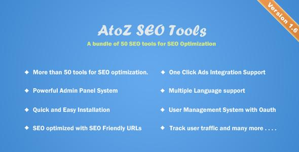 Free Download AtoZ SEO Tools v1.6 - Search Engine Optimization Tools Free Nulled